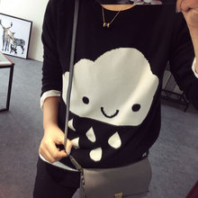 2017 Parent-child Outfits Cloud Family Look Sweaters Family Matching Outfits Mother & kids Knit Shirts for Mother Son Girls Boy