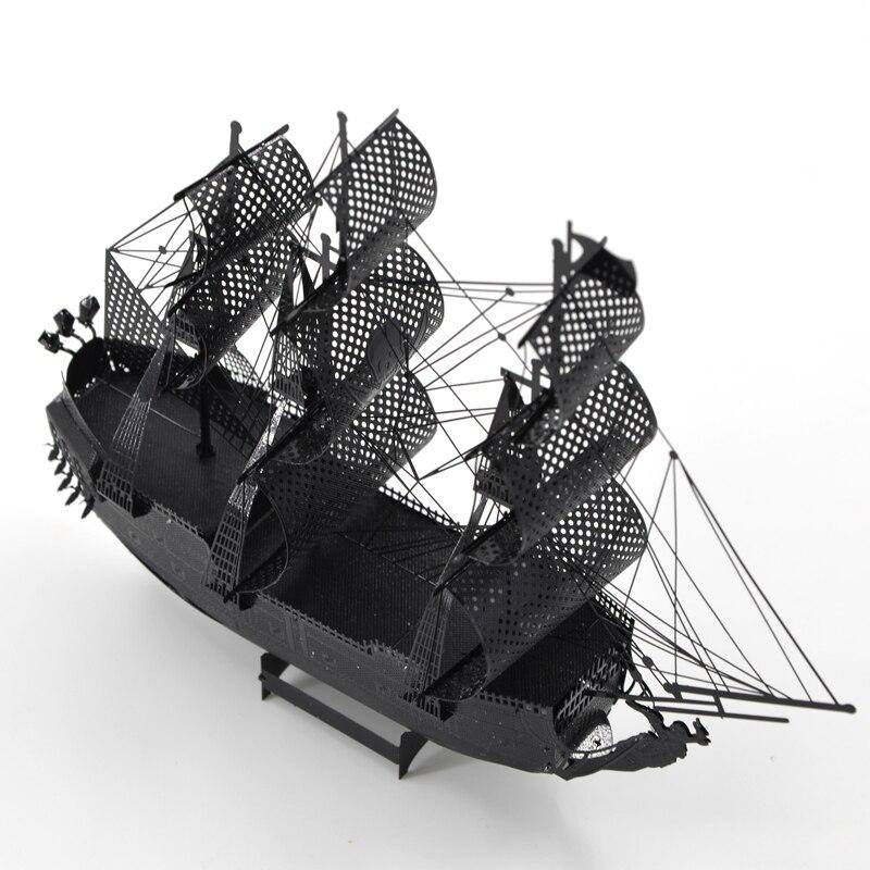 Colorful Pirates Of The Caribbean Black Pearl Ship Fun 3d Metal Diy Miniature Model Kits Puzzle Toys Children Boy Splicing