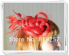 Free shipping 16color high quality sinamay fasinctor font b hats b font nice bridal hair accessories
