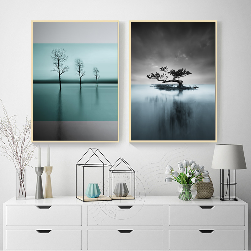 1Pcs Modern Nordic Landscape Poster Canvas Painting Wall Decoraction Modular Home Canvas Prints Picture For Kids Room Unframed in Painting Calligraphy from Home Garden