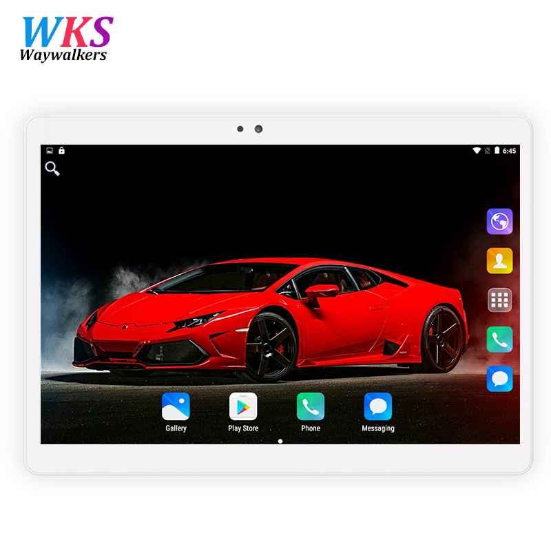 10 Inch Tablet PC 1280x800 IPS Octa-core 4G RAM 32GB 64GB ROM 3G WCDMA/2G GSM 2 SIM Phone Bluetooth WIFI AGPS Android 7.0 OS thl w200c octa core 720p 5 0 ips android 4 2 wcdma phone w otg 8gb rom gps black