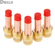 DRELD 5pcs TIG Collets Body Gas Lens 45V27 3.2mm 1/8 for Welding Torch Consumables SR PTA DB WP 17 18 26 Series 2PK