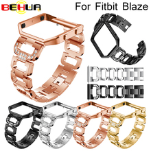 Metal Watch Bands With Rhinestone Stainless Steel Frame Optional Replacement Bracelet Accessories For Fitbit Blaze wristband