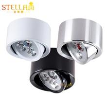Stellam Surface Mount Aluminium Round Led Downlight 3W 5W 7W Spot Led Light AC90V-265V 50/60Hz Led Ceilling Lights For Kitchen