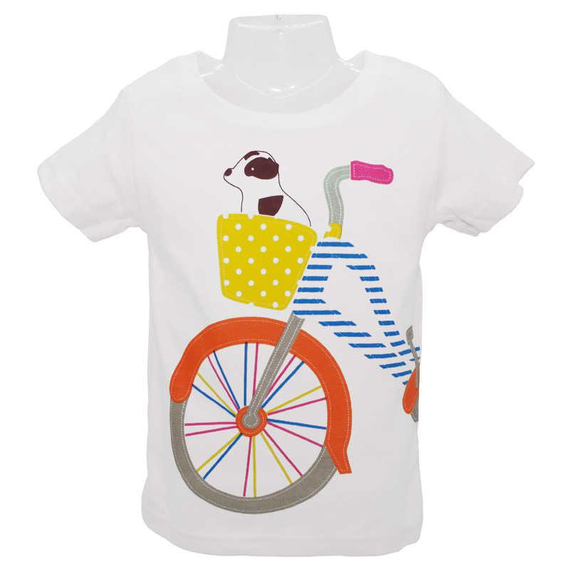 2018 ベビーボーイズガールズ Tシャツ夏の子供服かわいい漫画ベビー少女と犬クリエイティブ Tシャツトップス