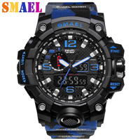 New SMAEL Brand Men S Chronograph Sports Military Watches Men Analog LED Digital Watch Fashion Wristwatches