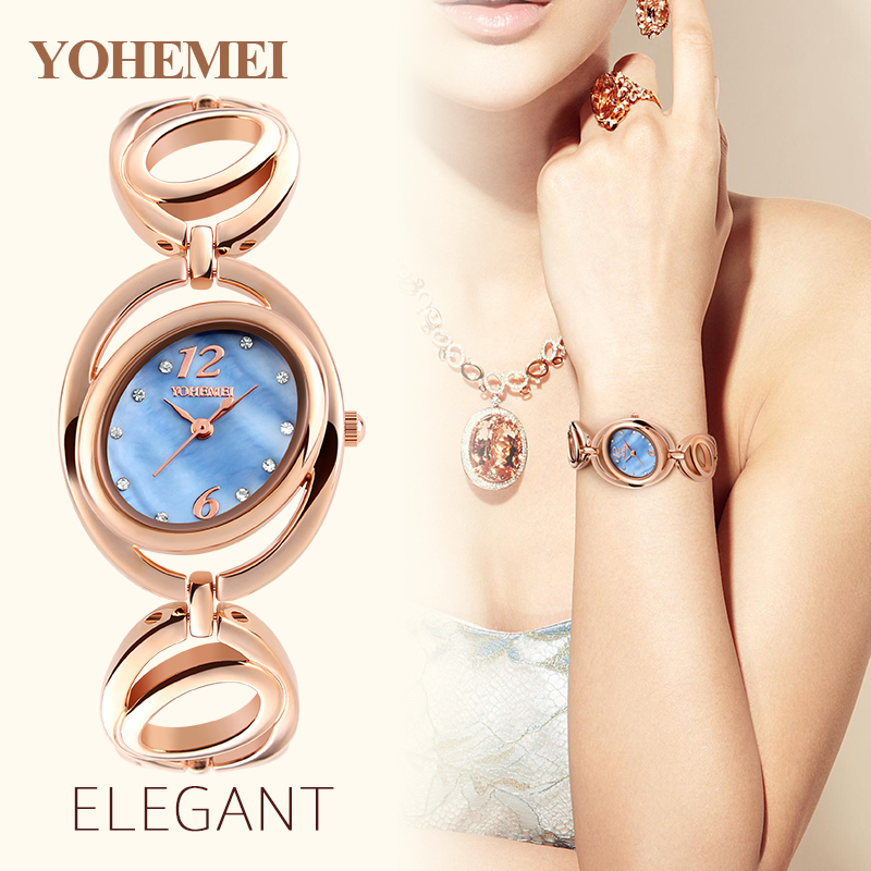 YOHEMEI Luxury Women Quartz Watch Relojes Reloj Mujer Montre Femme Relogio Feminino Women's Bracelet Watches Ladies Clocks 0167  ruimas original ladies watch top brand luxury quartz women watches reloj mujer montre femme for female relogio feminino