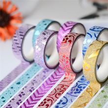 10pcs/lot Creative DIY Decorative Tape Flash Handmade Stickers