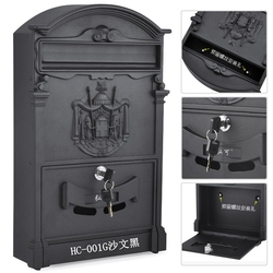 Retro Mailbox Villas Post Box European Lockable Outdoor Wall Newspaper Boxes Secure Letterbox Garden Home Decoration KT716959