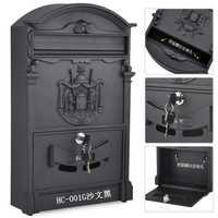 Retro Mailbox Villas Post Box European Lockable Outdoor Wall Newspaper Boxes Secure Letterbox Garden Home Decoration KT716959