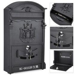 Retro Mailbox Villen Post Box Europäischen Abschließbare Außen Wand Zeitung Boxen Sichere Briefkasten Garten Home Dekoration KT716959