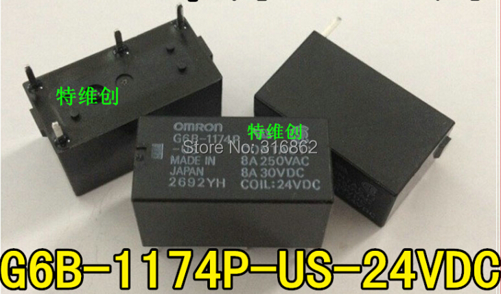 G6B-1174P-US-24VDC G6B-1174P-US-DC24V G6B-1174P-US-24V 10PCS/LOT 24V RELAY Free Shipping electronic Components kit
