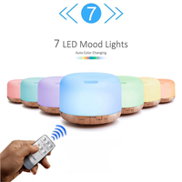 500ML Aroma Essential Oil Diffuser Aromatherapy Wood Grain Cool Mist Maker Ultrasonic Air Humidifier With LED