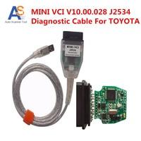 2016 Best Selling MINI VCI FOR TOYOTA TIS Techstream J2534 OBD2 Diagnostic Cable MINI VCI V10