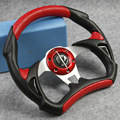 Universal PU Leather Stitching Sport JDM Auto Car Racing Steering Wheel Red, Spare Parts and Accessories Replacements