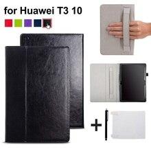 Funda Para Huawei MediaPad T3 10 AGS-L09 AGS-L03 Cubierta Funda de 9.6 pulgadas tableta para Honor Juego Pad 2 9.6 caso de la cubierta con correa de lanzador