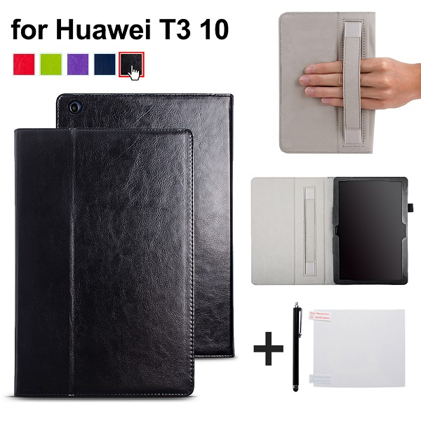 Case For Huawei MediaPad T3 10 AGS-L09 AGS-L03 9.6 inch Cover Funda Tablet for Honor Play Pad 2 9.6 cover case with hander strap