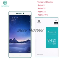 Free Shipping Xiaomi Redmi 3 Screen Protector 9H 0 3mm Nillkin Amazing H Tempered Glass For