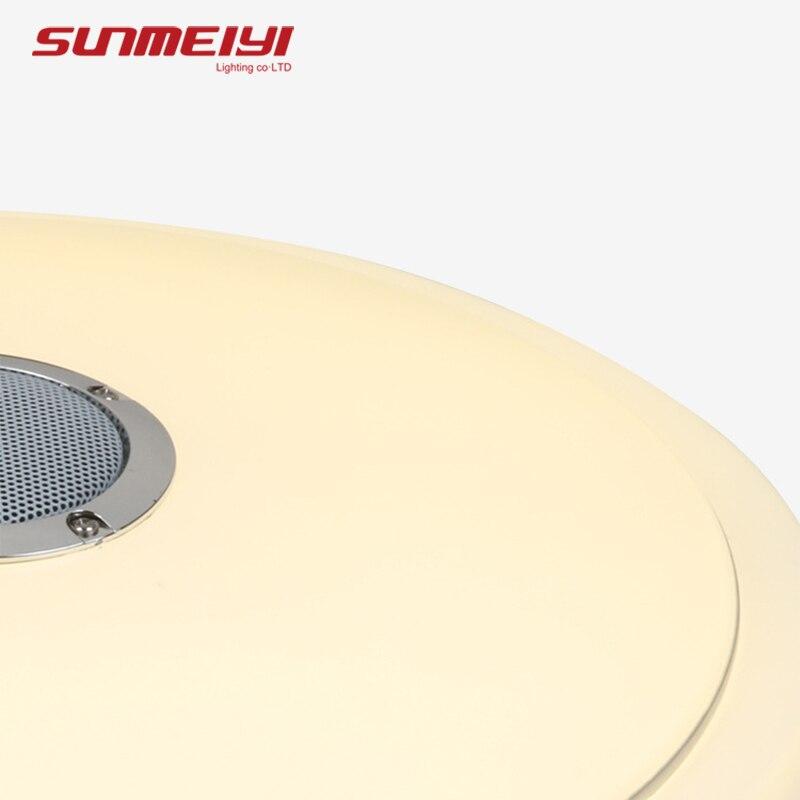Moderno Bluetooth luces de techo control remoto y APP luz inteligente para sala de estar dormitorio regulable LED lámpara de techo altavoz de música - 3