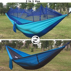 Image 5 - Dropshipping 1 2 Person Outdoor Mosquito Net Parachute Hammock Camping Hanging Sleeping Bed Swing Portable Double Chair Hamac