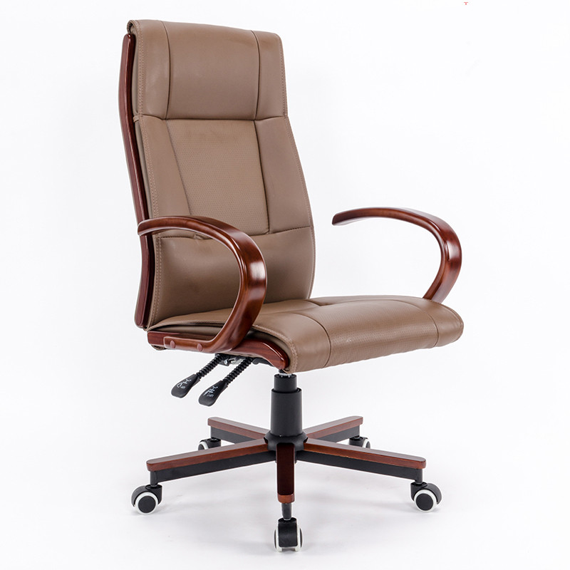 High Back Black Leather Executive Swivel Chair with Synchro-Tilt Mechanism Office Furniture Executive Office Chair Armchair