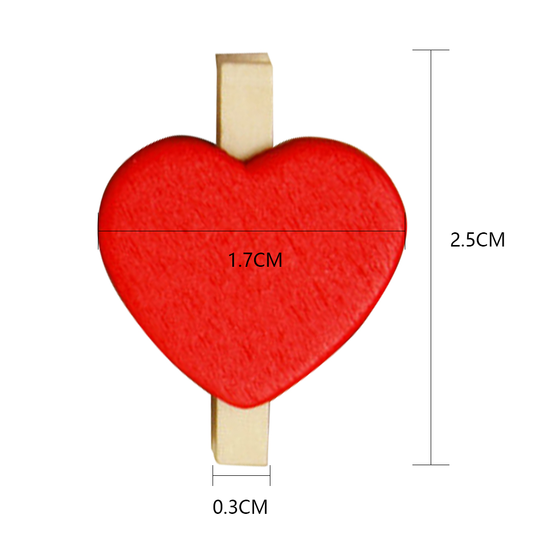 FangNymph 10Pcs/Pack Mini Heart Love Wooden Clothes Photo Paper Peg Pin Clothespin Craft Postcard Gift Clips  Decoration
