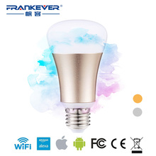 FrankEver E27 Wireless WiFi Control 5W Smart Light LED RGB Bulb Lamp Remote control via APP Compatible with Smartphone