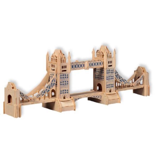 Tower Bridge Modelo 3D Puzzle De Madeira Blocos Educacionais das Crianças Adulto Velocidade Enigma De Madeira Puzzle Brinquedos Para Crianças