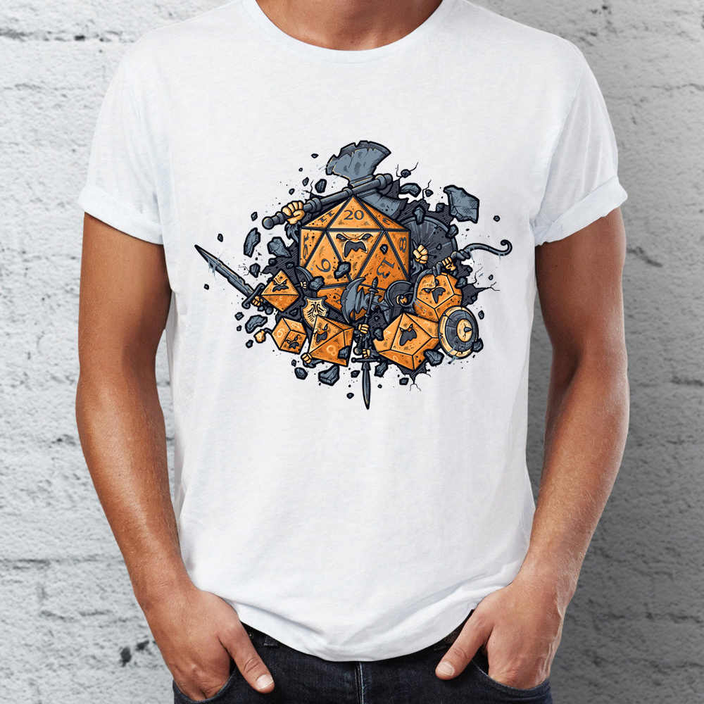 Mannen T-shirt Link Dungeons And Dragons Gaming Grappige Awesome Tee