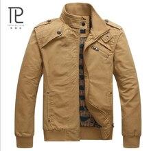 Brand Clothing Winter Jacket Mens Bomber Jacket Long Slim Fit 100%Cotton Manteau homme Mens Jackets#B0