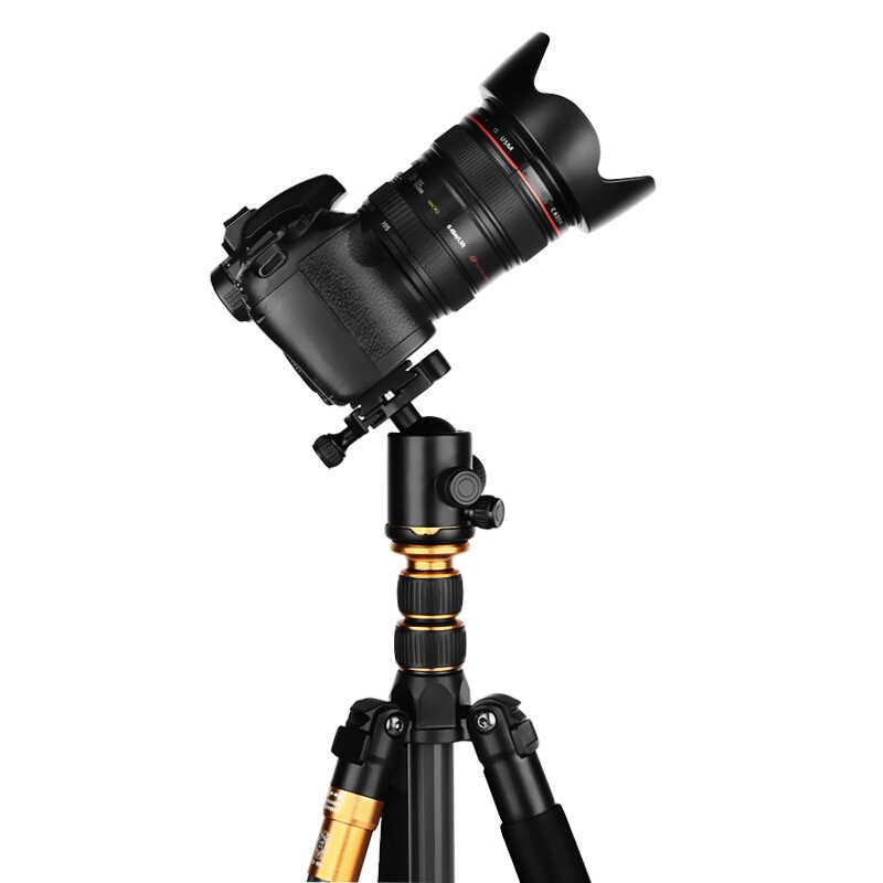 Новый Q666 Профессиональная зеркальная камера с Камера штатив Алюминиевый сплав штатив для путешествий Портативный Отсоединяемый монопод, 62''inch, 360 градусов шаровая Головка