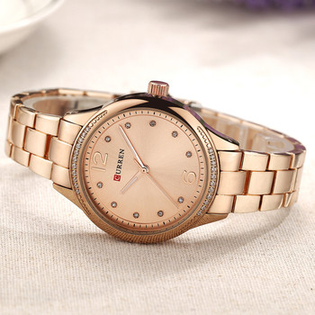 Curren 9003 Women Watches Gold Steel Quartz Watch Fashion Ladies Wristwatch With Box