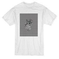 Custom Design Tee Shirts Crew Neck Funny Short Sleeve Art Shape In Line Pattern Graphic M