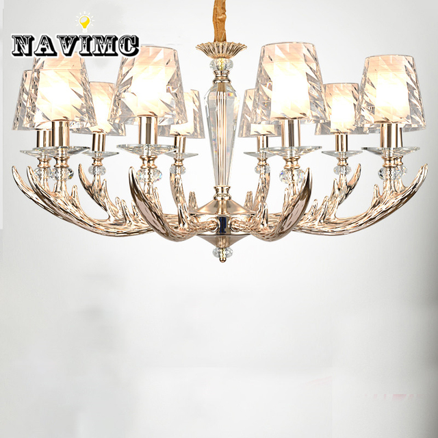 Moderne Geweih Kronleuchter mit Acryl Lampenschirm für Wohnzimmer ...