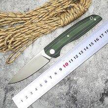 WLT F95 110 Roller Tactical Survival Folding Knife D2 Blade Green G10 Handle Ball Bearing Knife Camp Pocket Knives OEM Tools EDC