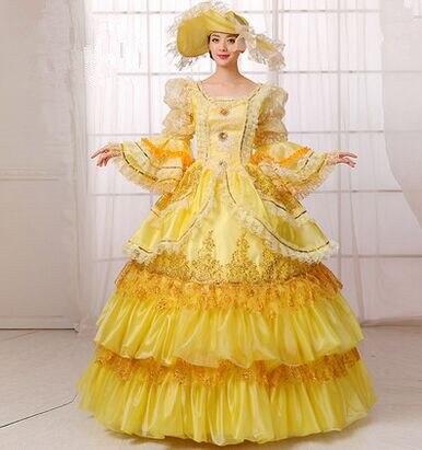 Элегантное Королевское Платье, желтое средневековое платье, Королевское Платье Виктории, вечернее Королевское Платье принцессы для женщин