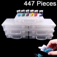 New Diamond embroidery diamond painting tool! Daimond transparent plastic storage box, jewelry Drill Storage Box Gift