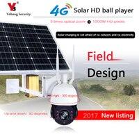 Yobang Security Solar Panel Outdoor Wireless Security Camera 1080p HD Night Vision Alarm Alert & PIR Motion Sensor Video Record