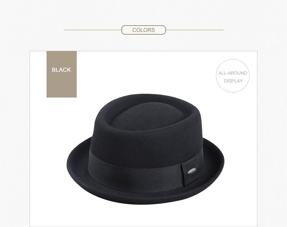 df4e0299dfe Sedancasesa New 2018 Fashion 100% Australia Wool Men's Fedora Hat ...
