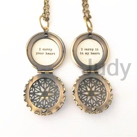 6 пара/лот мать дочь Цепочки и ожерелья комплект я несу ваше сердце я носить его в моем сердце, цитата медальон сообщение медальон набор из дв...