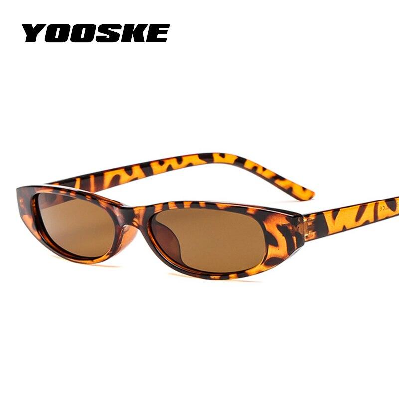 Солнцезащитные очки YOOSKE для мужчин и женщин UV-400, маленькие, коричневые, леопардовые, красные, черные