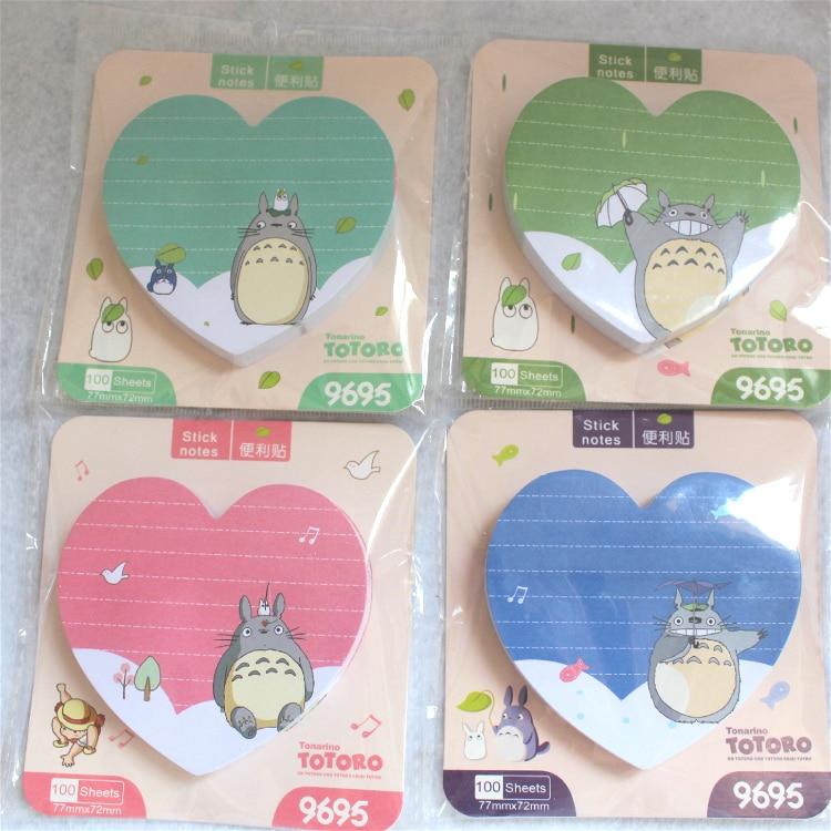 100 sheets/1set Cartoon Animals Memo NotePad Sticky Notes Notebook Escolar Papelaria School Supply Bookmark Label