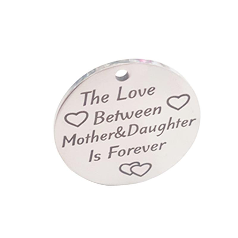 Stainless Steel Love Between Mother Daughter Is Forever Heart