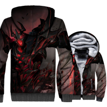 2018 Winter Plus velvet thickening Coat Men Size 3D game new print jacket Casual Mens sweatshirt hooded Clothes