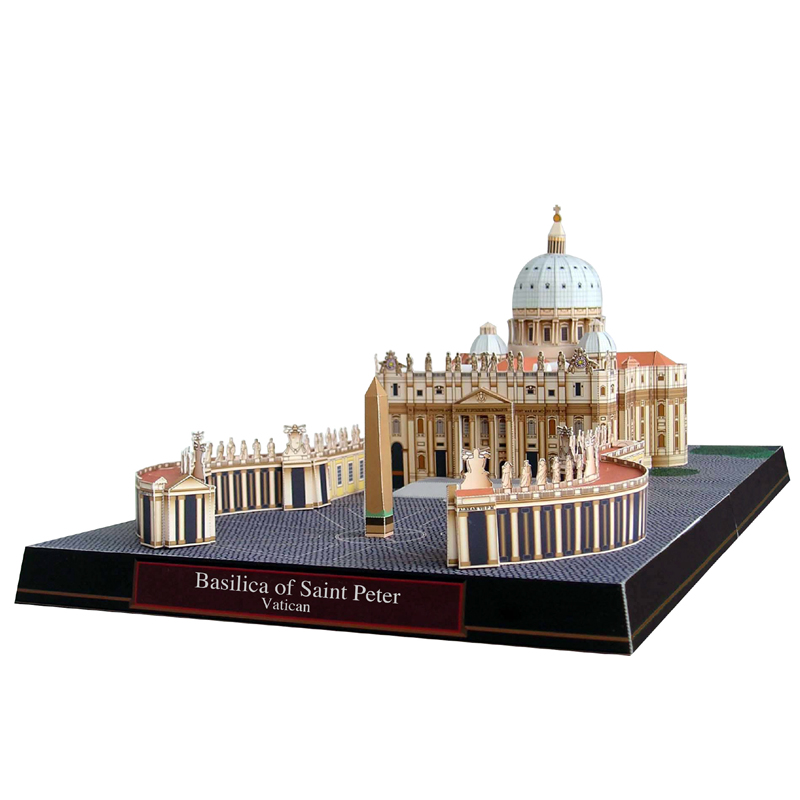 Basilica Of Saint Peter, Vatican Craft Paper Model 3D Architectural Building DIY Education Toys Handmade Adult Puzzle Game