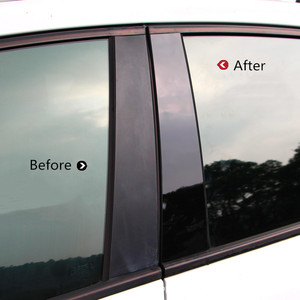 Image 2 - Car Window Center Pillar Sticker Trim External Decoration Film Car Accessories For Ford Focus 2 MK2 3 MK3 Fiesta Escort Ecosport