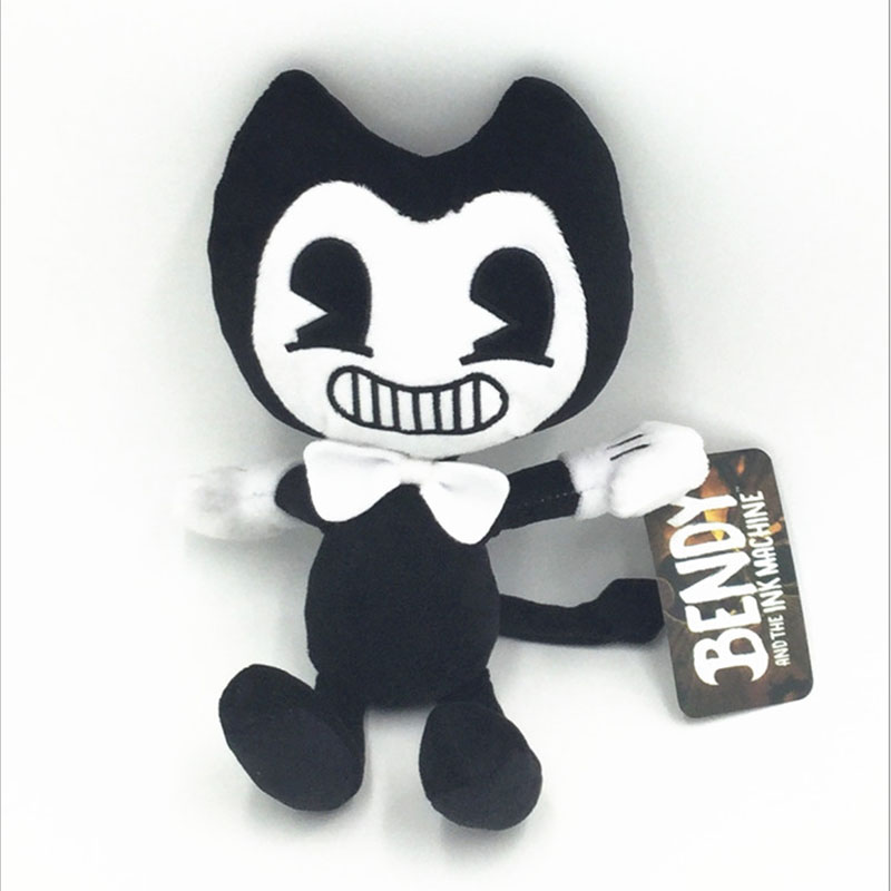 Thriller Bandy And Ink Machines Game Short Plush Padding Dolls Black And White Halloween Funny Toys For Children