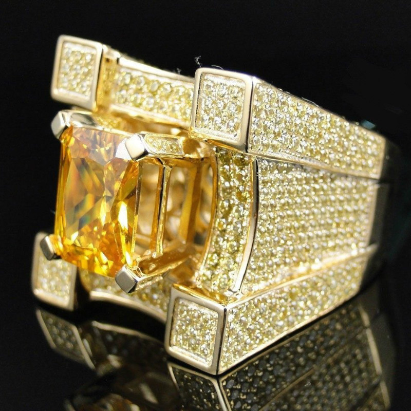 Detail Feedback Questions about AAA Cubic Zirconia Ice Out Bling Wide Hip  Hop Rings Gold Silver Color Geometric Men Hiphop Rock CZ Ring Big Crystal  Jewelry ... 93edf4c4d418