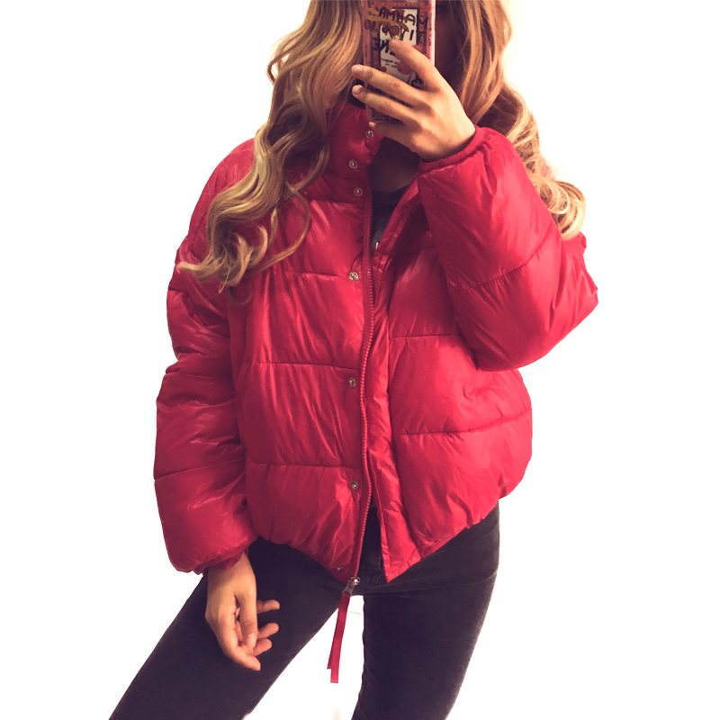 Winter Short jacket   parkas   2018 autumn women cotton down jacket loose thick coat bread clothes coats outerwear female jackets