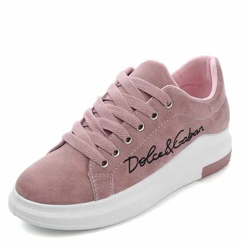Casual Schuhe Frühjahr Neue Designer Keile Rosa Plattform Turnschuhe Frauen Vulkanisieren Schuhe Tenis Feminino Casual Weibliche Schuhe Frau